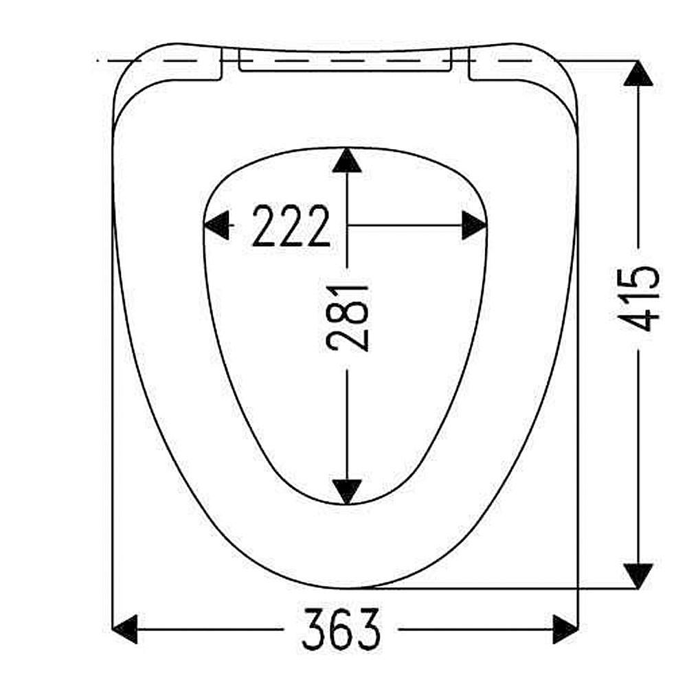 Сиденье для унитаза HARO АРКТИК - размеры
